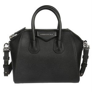 Givenchy Black Leather Antigona Mini Satchel Bag